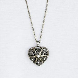 """Casanova Charm"" - Brass Heart Necklace Set"